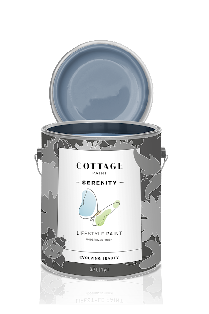 Cottage Paint Can, Serenity, Blue Heron