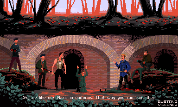 Gustavo Viselner ilustrações pixel art filmes tv referências Bastardos Inglórios