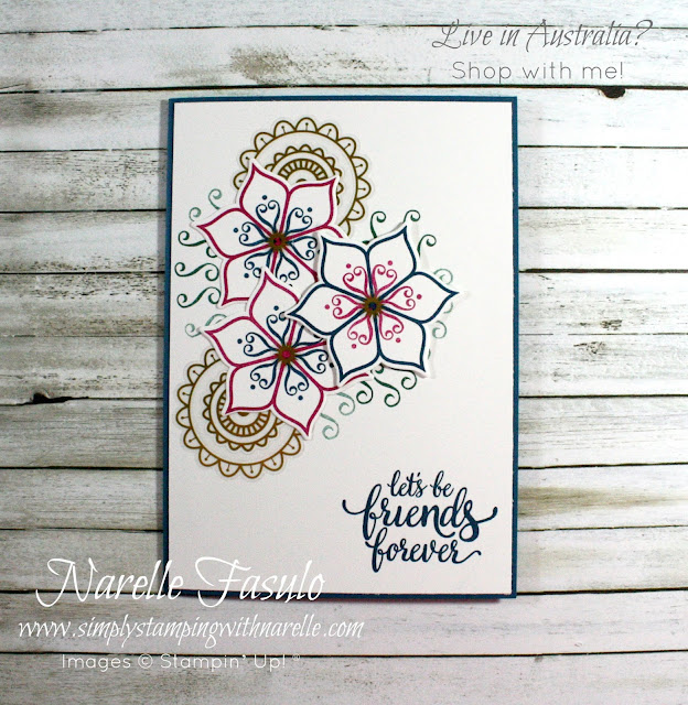 Create gorgeous cards like this with the Eastern Beauty stamp set - get yours here - http://bit.ly/2xqbLdc