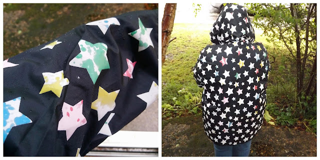 Pink Clove colour changing star raincoat