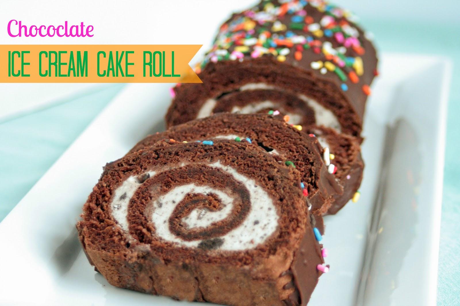 Vanilla Ice Cream Cake Roll