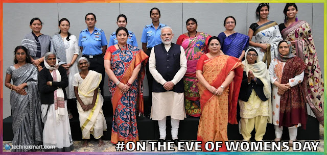 pm modi on womens day,womesn day celebrations,womesn day,womens day 2020,womens day 2020,social media,pm modi social media,womens day 2020 social media,pm modi on womens day 2020,