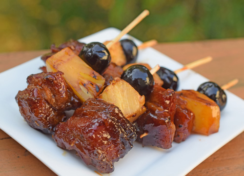 Cocktail skewers are fun ideas for party appetizers