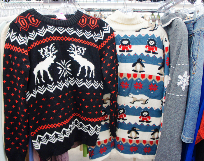 Ugly Holiday Sweaters at Savers