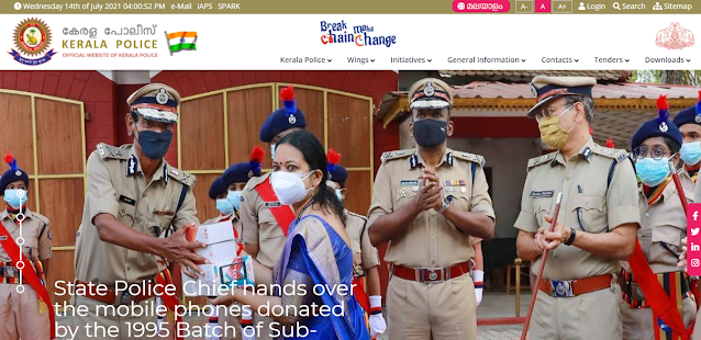 Kerala Police Website
