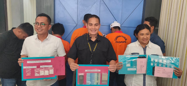 Tiga Pengedar Sabu diciduk Polresta Palembang