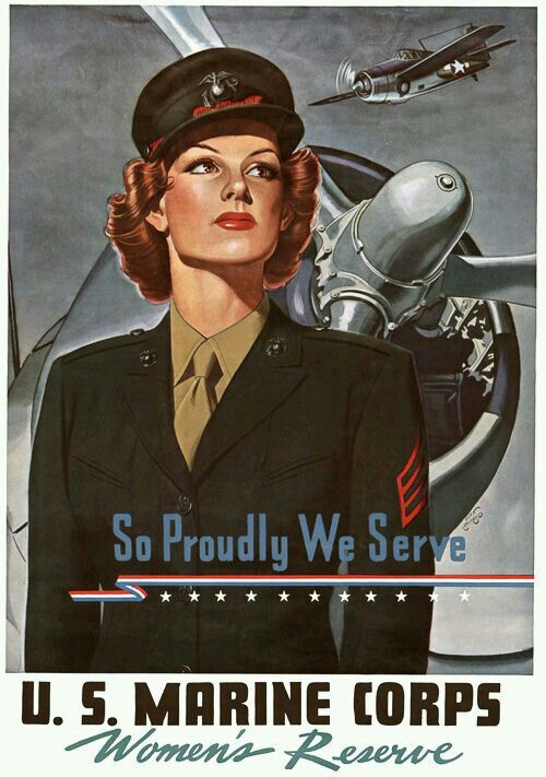 Women's Reserve world war II poster worldwartwo.filminspector.com