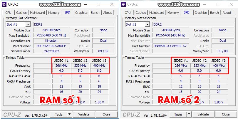 Chạy dual RAM máy không nhận hết bus