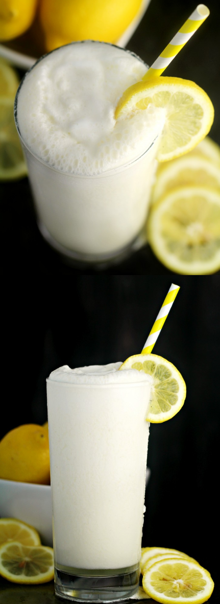 Frosted Lemonade, The Perfect Summer Drink!