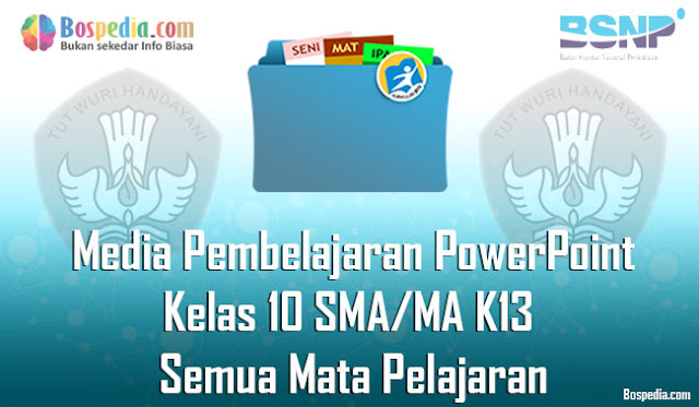 Media Pembelajaran PowerPoint Kelas 10 SMA/MA K13 Semua Mata Pelajaran