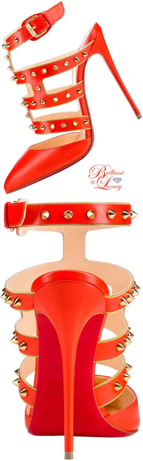 Brilliant Luxury ♦ Christian Louboutin Tchicaboum Kid pump