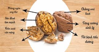 Thành phần Dinh dưỡng của quả Óc chó