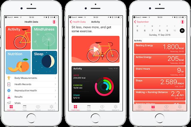 Health app data