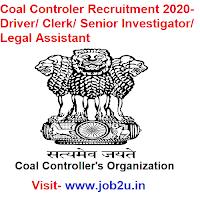 Coal Controler Recruitment 2020, Driver, Clerk, Senior Investigator, Legal Assistant