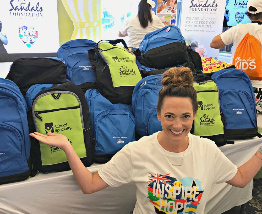 the sandals foundation packing for a purpose