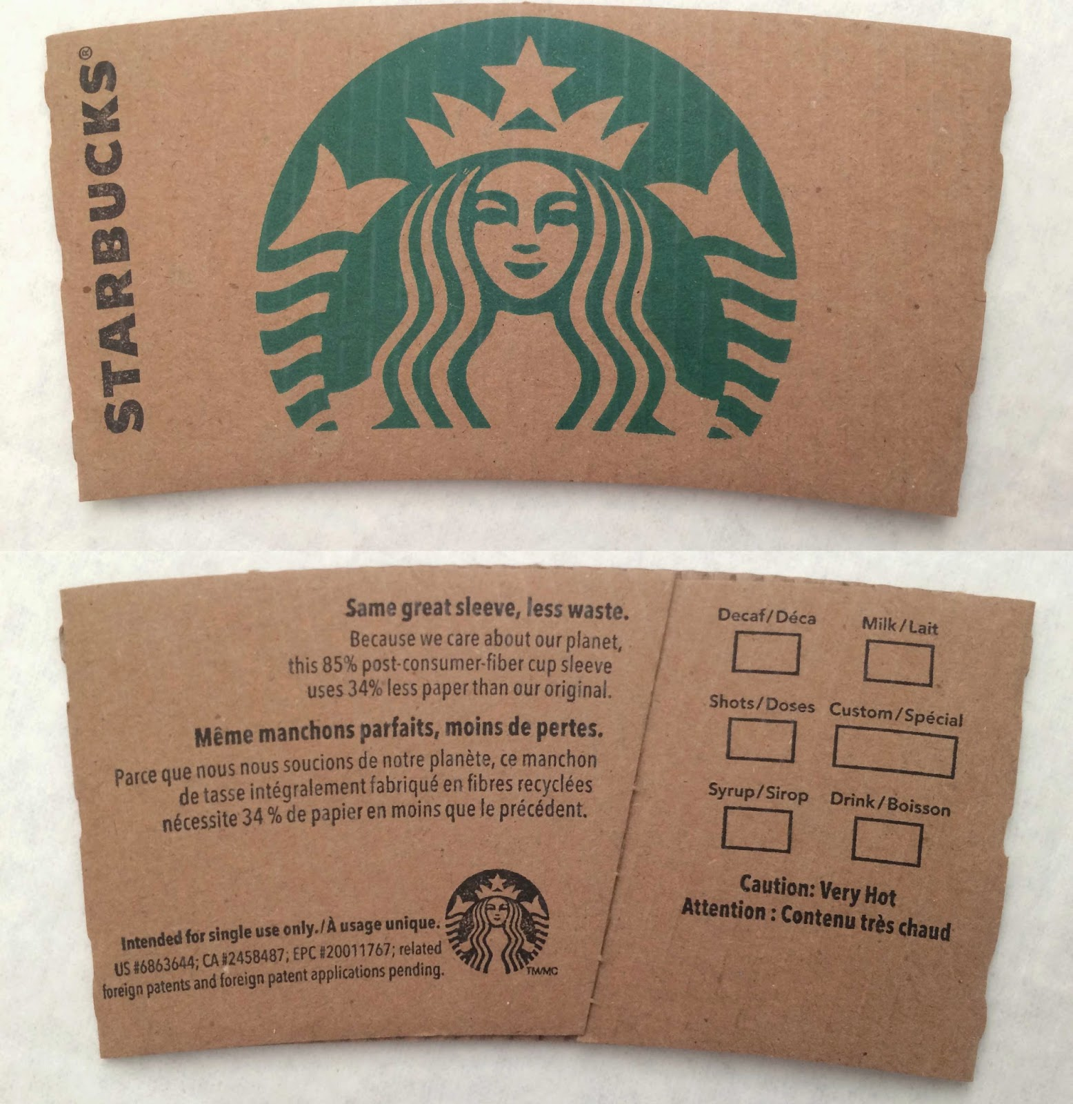 Pictures Of Starbucks Sleeve Template