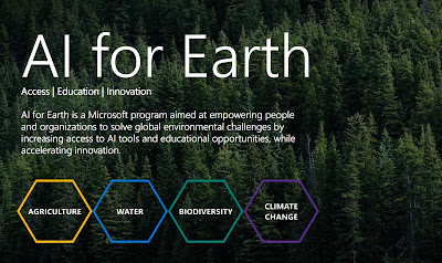 Artificial Intelligence for Earth initiative by Microsoft at an AI event