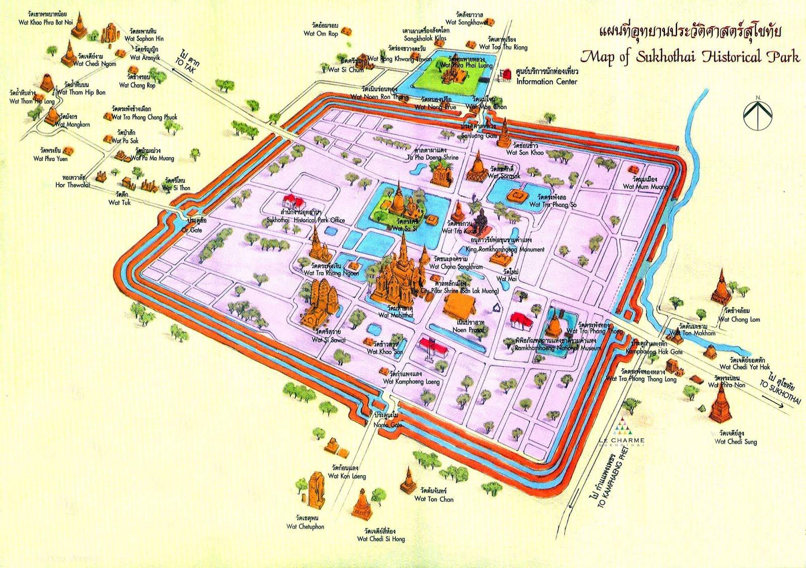 Ayutthaya Carte Thailande.Ayutthaya Ayutthaya Historical Park Thailande