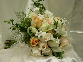 wedding flower packages roses and stephanotis