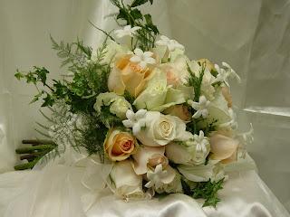 wedding flower packages roses and stephanotis