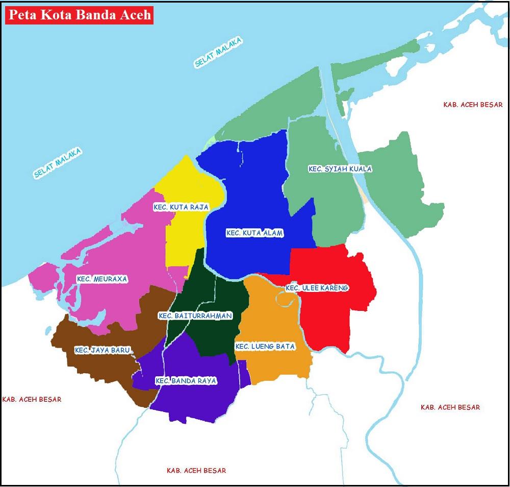 Peta Kota Banda Aceh