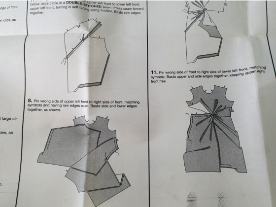 sewing instructions and diagrams for making a dress