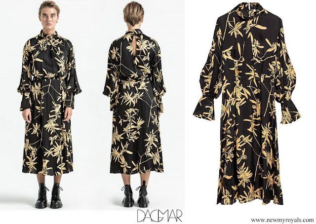Crown Princess Victoria wore Dagmar Dora gold flower dress