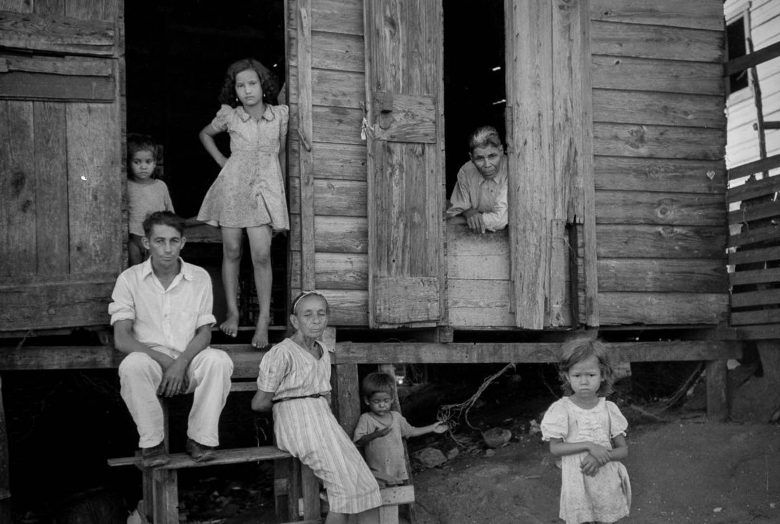 A family in a slum in Yauco.