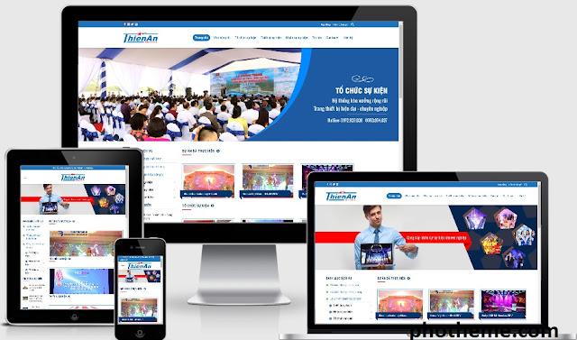 Theme wordpress công ty tổ chức sự kiện Thiên An