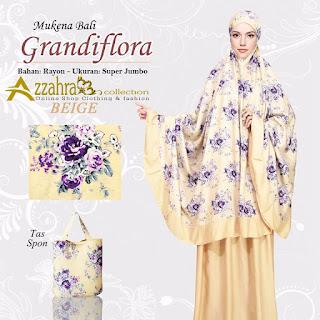 Mukena Bali Super Jumbo Grandiflora Warna emas aksen emas Gold