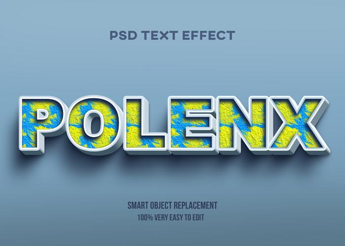 Polenx Text Effect PSD Mockup