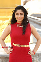 Telugu Actress Zahida Sam Latest Pos in Red Gown at RF Films New Movie Opening  0037.JPG