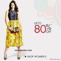 Women's Clothing 70% off + 20% off from Rs. 119 – Amazon