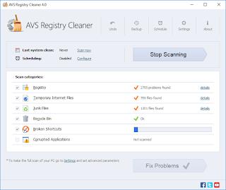 تنزيل برنامج تنظيف الجهاز وتسريعه AVS Registry Cleaner