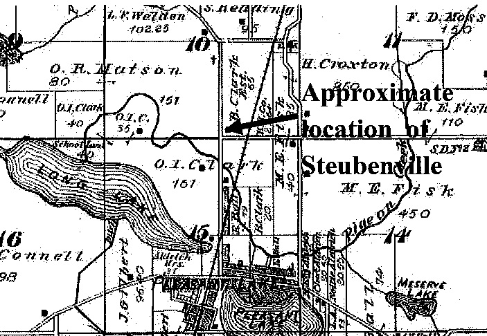 Steuben County Indiana Map.Steuben County Indiana Through The Years Lost Villages Of Steuben