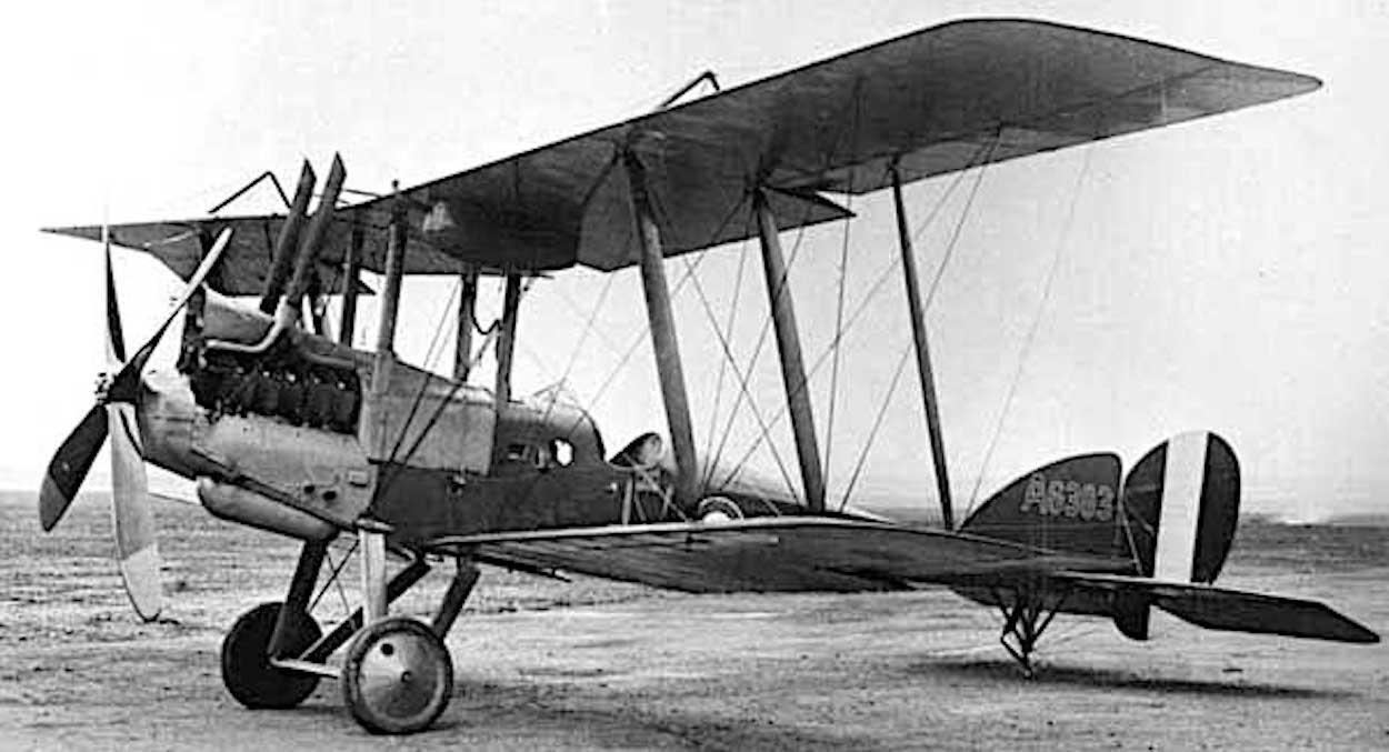 BE12 biplane