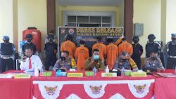 Usai Operasi Pekat, Polres Kayong Utara Gelar Press Release
