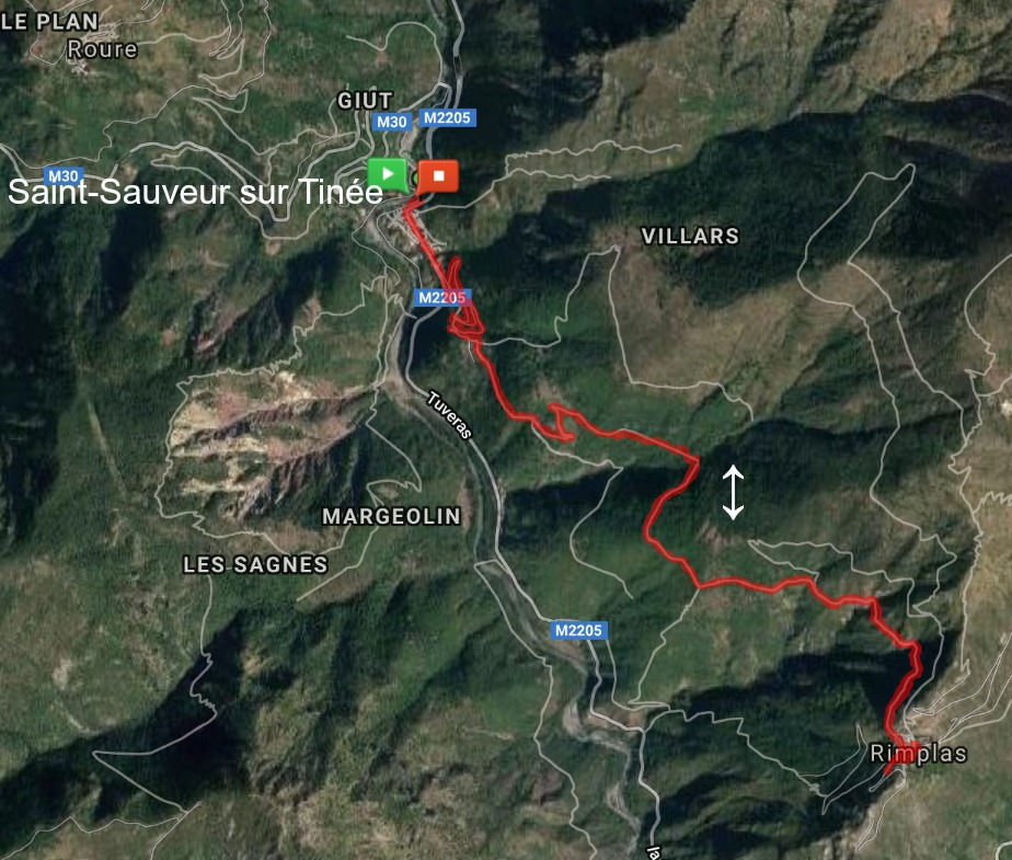 GR5 trail between St-Sauveur sur Tinée and Rimplas