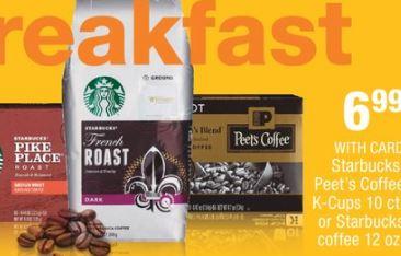 Starbucks or Peets Coffee cvs deal