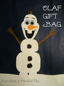 How to make a #Frozen Olaf gift bag