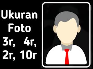 Ukuran Foto 3r dalam cm