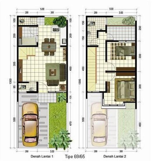gambar denah rumah mewah 2 lantai 4