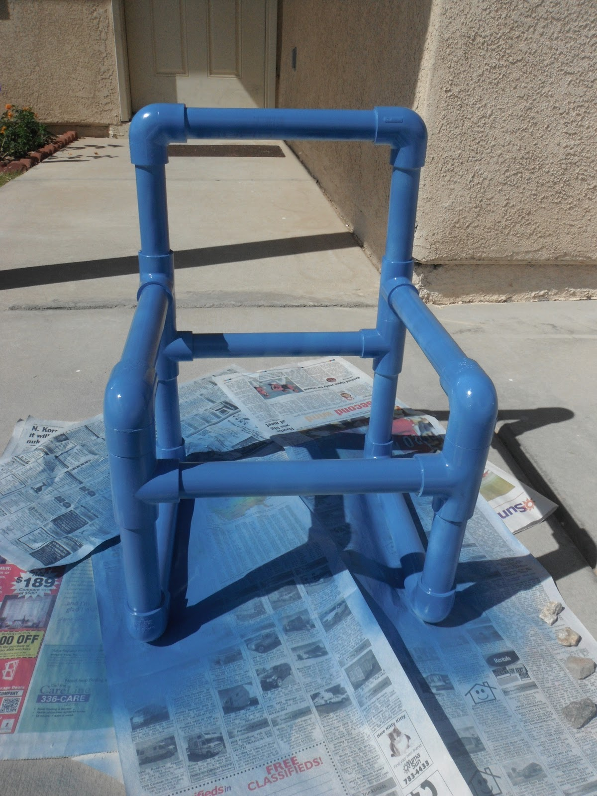 Crafting Weasels: PVC Kids Chair