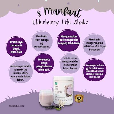 manfaat life shake elderberry
