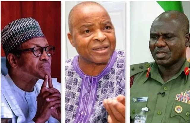 Akinrinade sends urgent message to Buhari, with Buratai as emissary