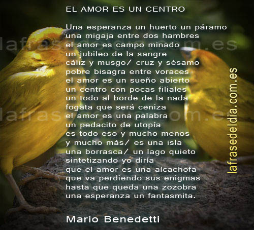 Versos de amor Mario Benedetti