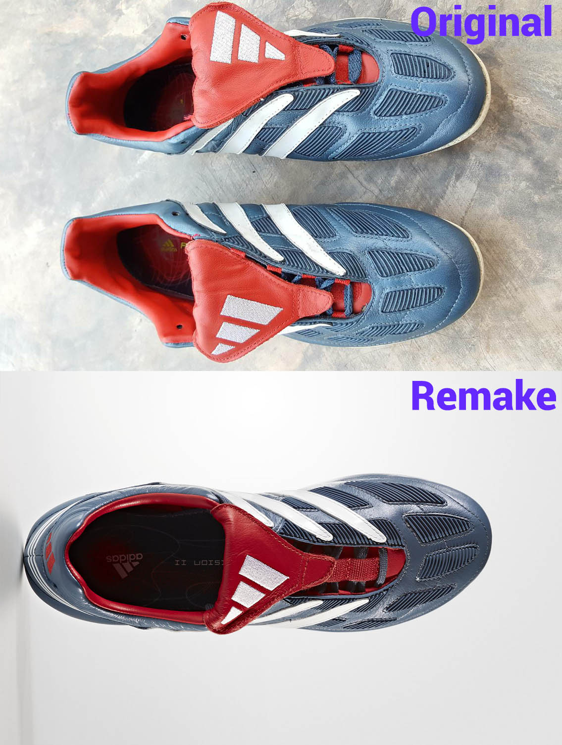 62b9307f58ad ... platinum 2000 uk 10 5 b79ad baa1b good most importantly the sole plate  and the studs of the adidas predator precision 2017 remake ...