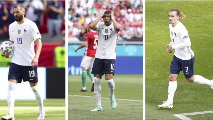 France still trust their trident of Mbappe, Benzema and Griezmann