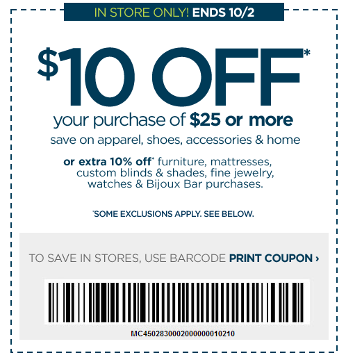 Free Is My Life Coupon 10 Off A 25 In Store Purchase At Jcpenney Ends 10 2