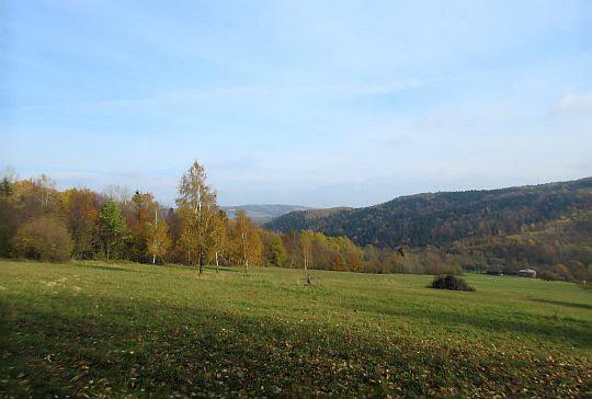 Spojrzenie w kierunku Doliny Śmierci i wzgórza 534 (Franków).